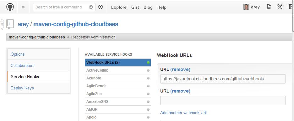 github-webhook-cloudbees