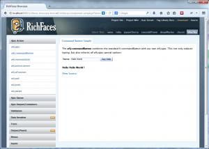 Richfaces Showcase Screenshot