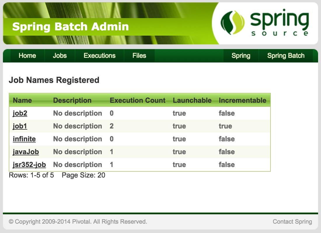 Personnaliser spring batch admin java moi spring batch admin screenshot baditri Choice Image