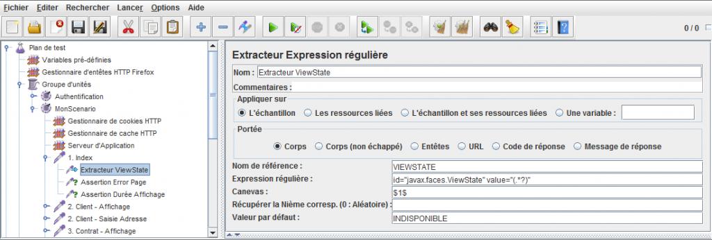 Extracteur d'expression régulière JMeter
