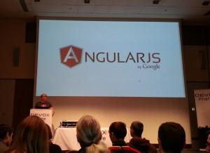 Université AngularJS ou le futur du développement Web à devoxxx France 2013